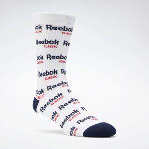 NWT Reebok Classic Graphic Cotton Crew Socks